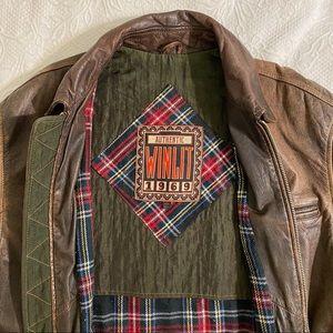 Authentic vintage Winlet Leather Jacket 1969